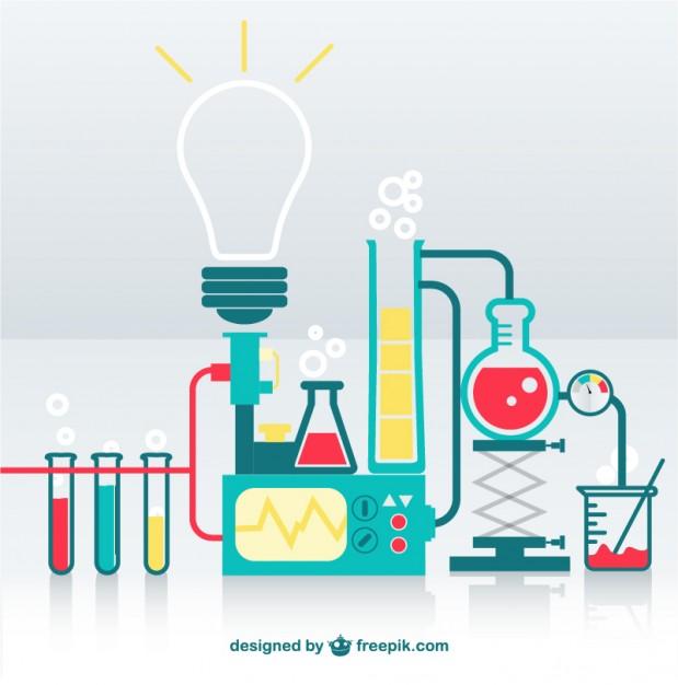 Science lab Vector.