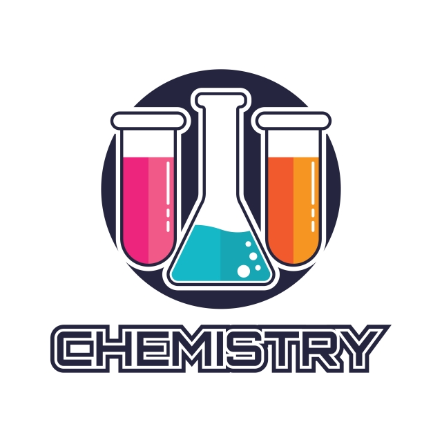 Chemical Logo For Science Or Research Vector Illustration.