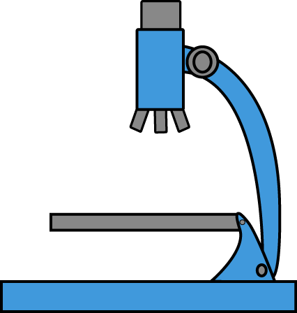 Blue Microscope Clip Art.
