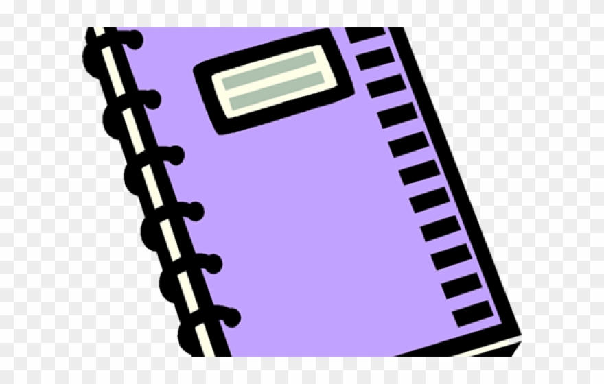 Purple Clipart Notebook.