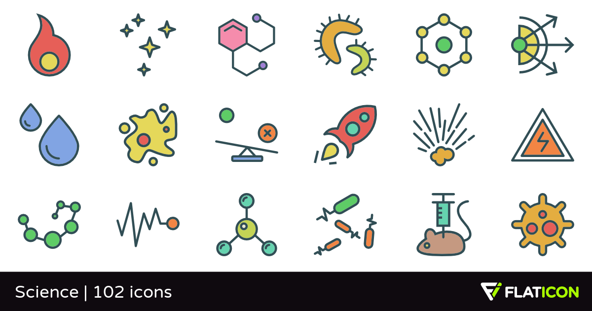 Science +100 free icons (SVG, EPS, PSD, PNG files).