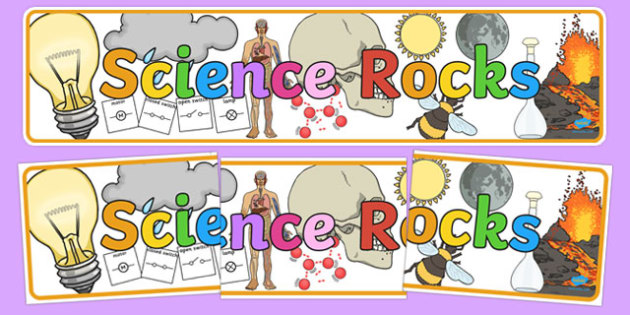 Science Rocks Display Banner.