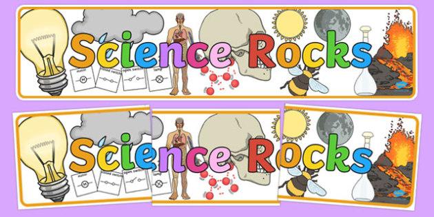 Science Rocks Display Banner.