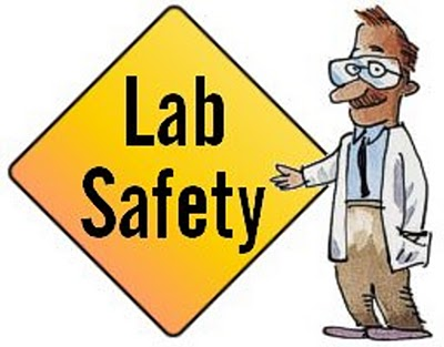 Science safety symbols clipart.