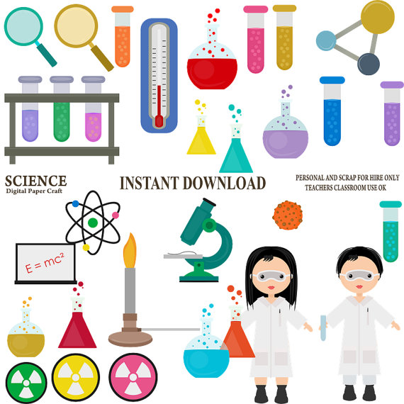 Science Clipart, Chemistry Clipart, School Clipart.