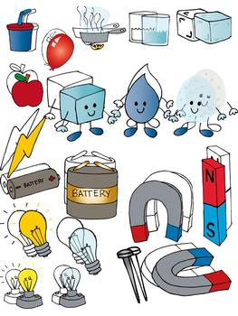 Science clip art set.