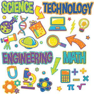 Details about EU 847775 STEM Math Science Technology Engineering Bulletin  Board Set.
