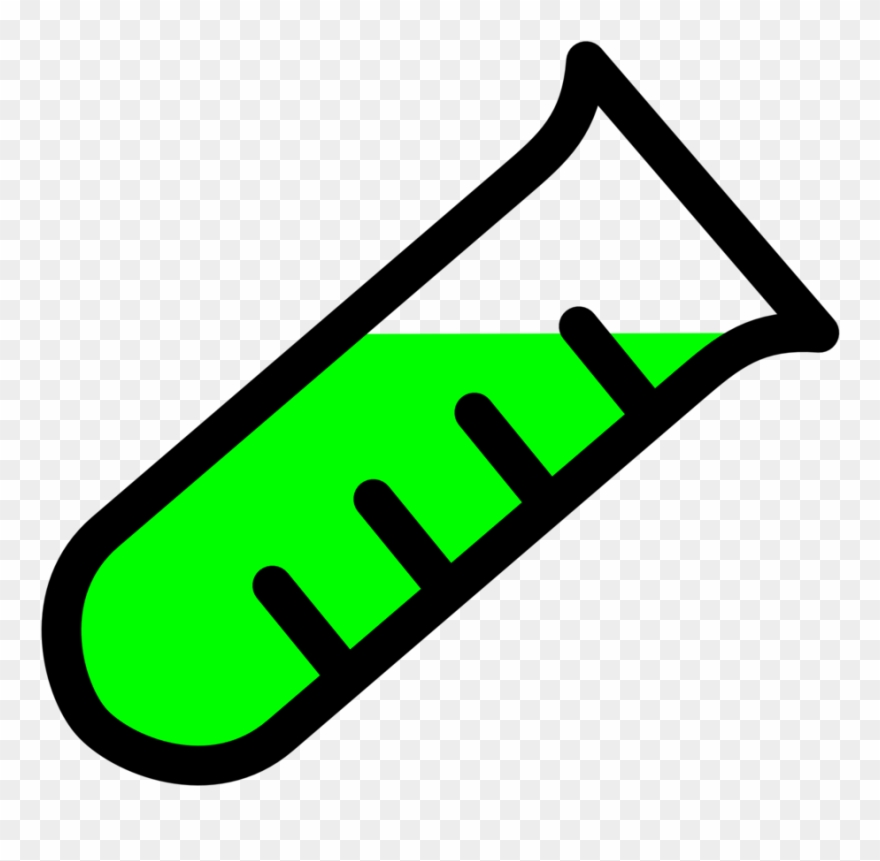 Free Vector Graded Test Tube Clip Art.