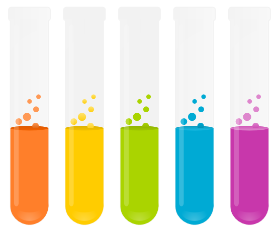 Science Test Tubes Clipart Vector, Clipart, PSD.
