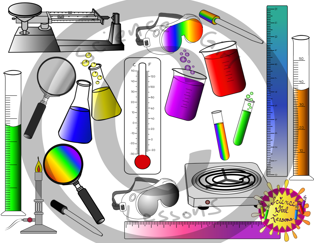 Science Tools Clip Art {Color Images}.