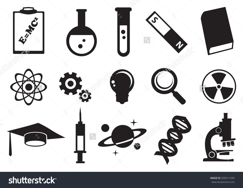 Vector Illustration Tools Symbols Science Education Stock Vector.