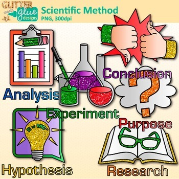 Scientific Method Clip Art: Inquiry Based Science Graphics {Glitter Meets  Glue}.