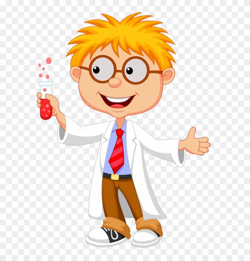 Cartoon Kid Scientist , Png Download.