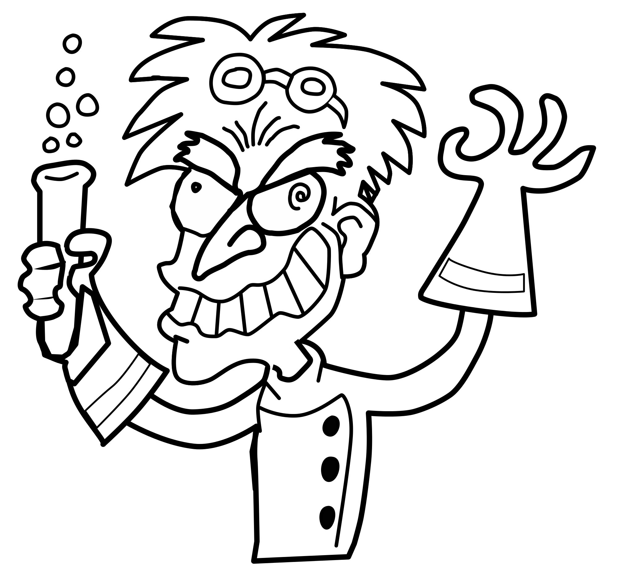 Mad Scientist PNG Black And White Transparent Mad Scientist.