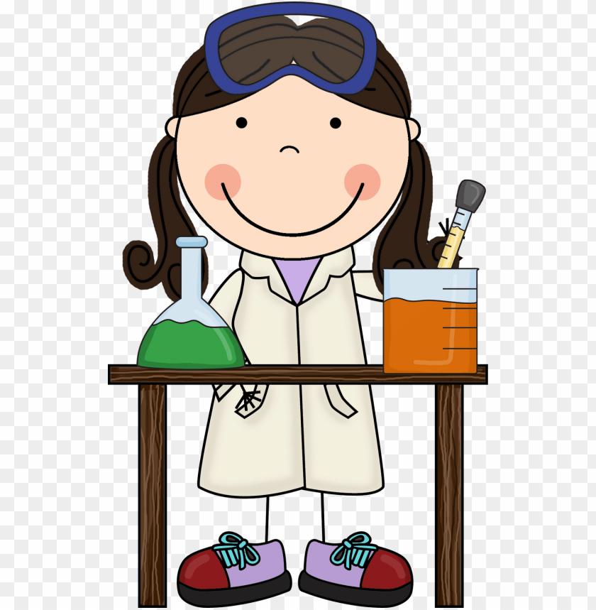 little girl scientist clipart.