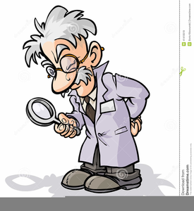 Clipart Scientist Microscope.