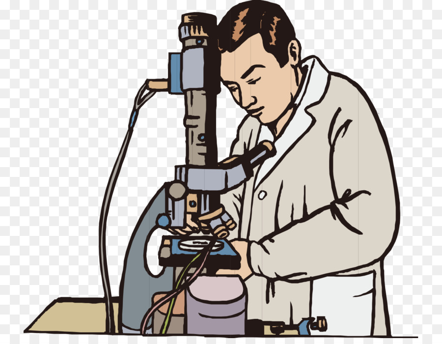 Download Free png Microscope Experiment Scientist Clip art.