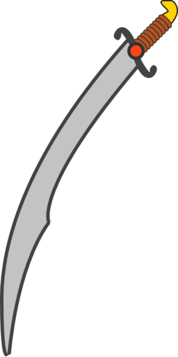 Long Scimitar Clipart.