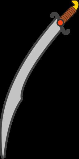 Long Scimitar Clipart.
