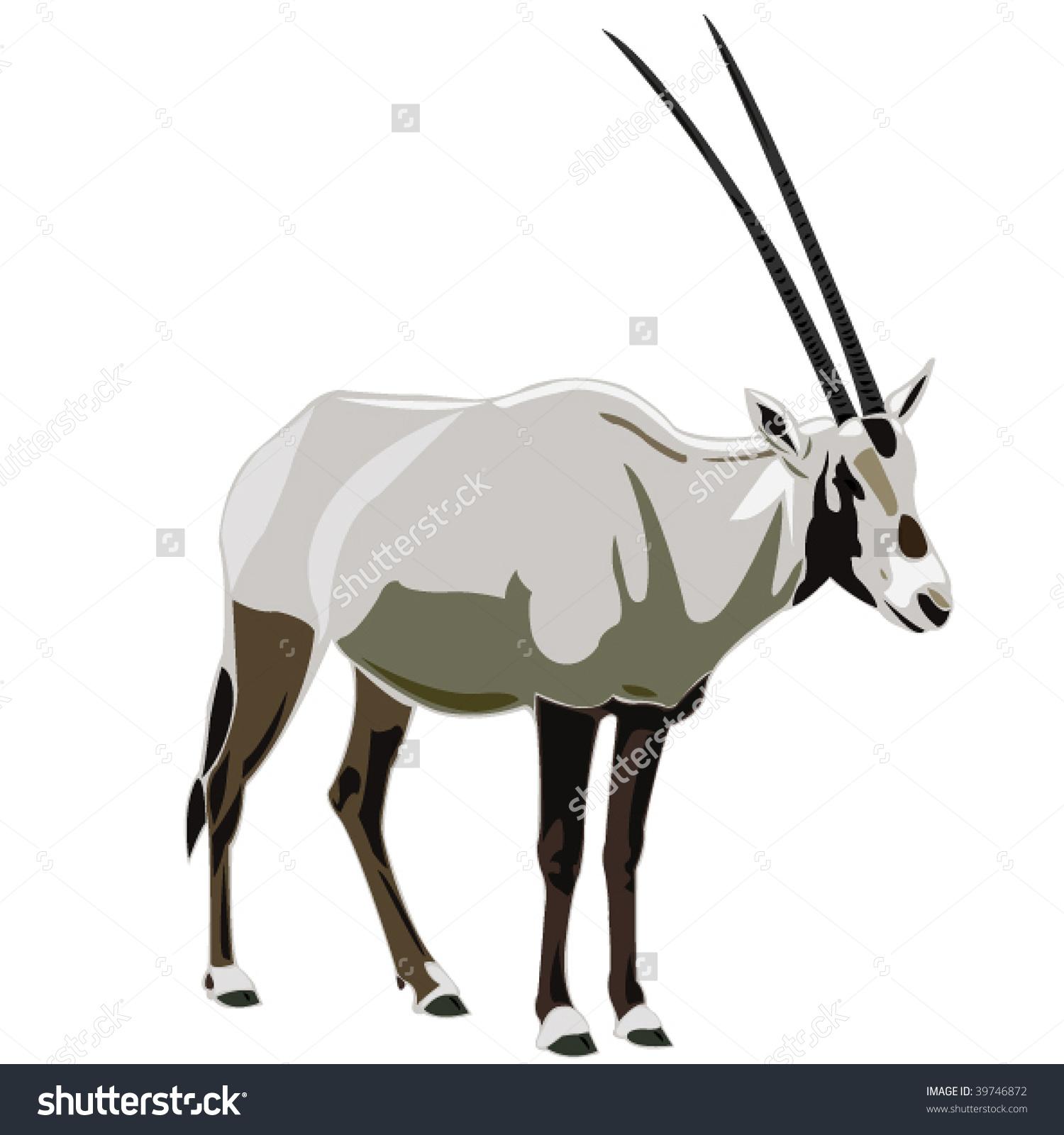 Arabian Oryx Clipart.