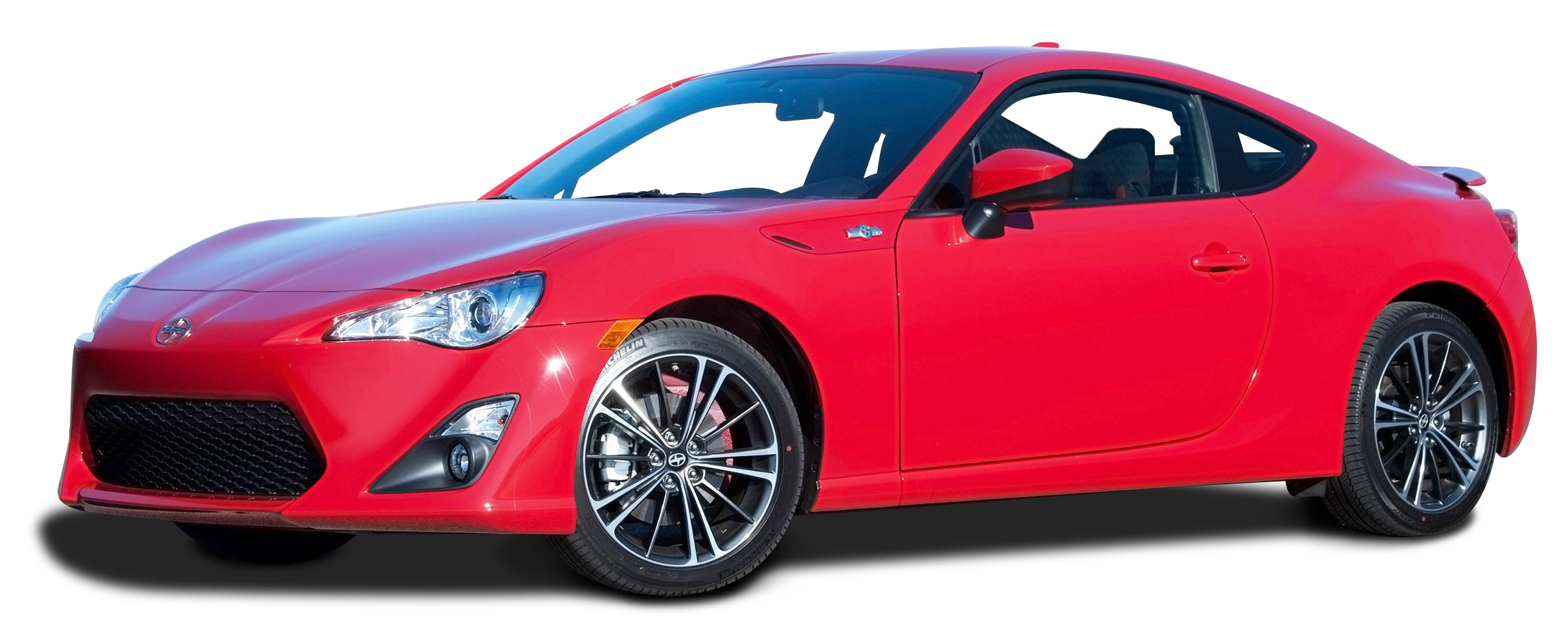 Red Scion FR S Car PNG Image.