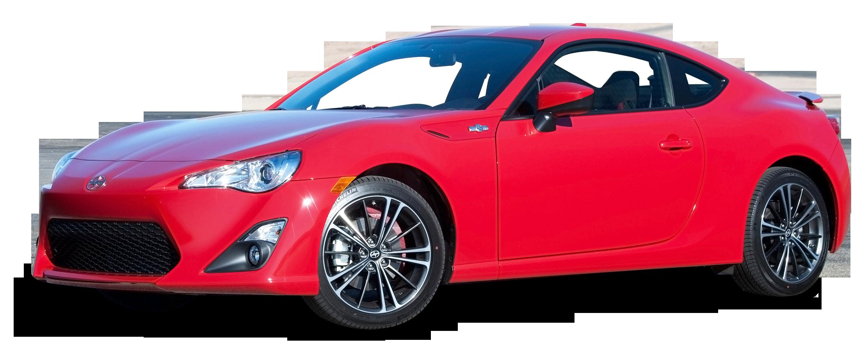 Red Scion FR S Car PNG Image.