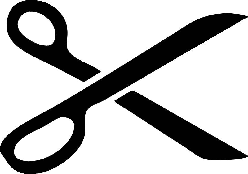 Free Clipart: Scissor Stencil.