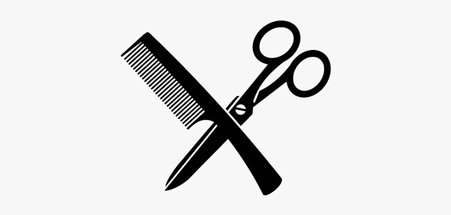 Scissors And Comb Logo #1610004.