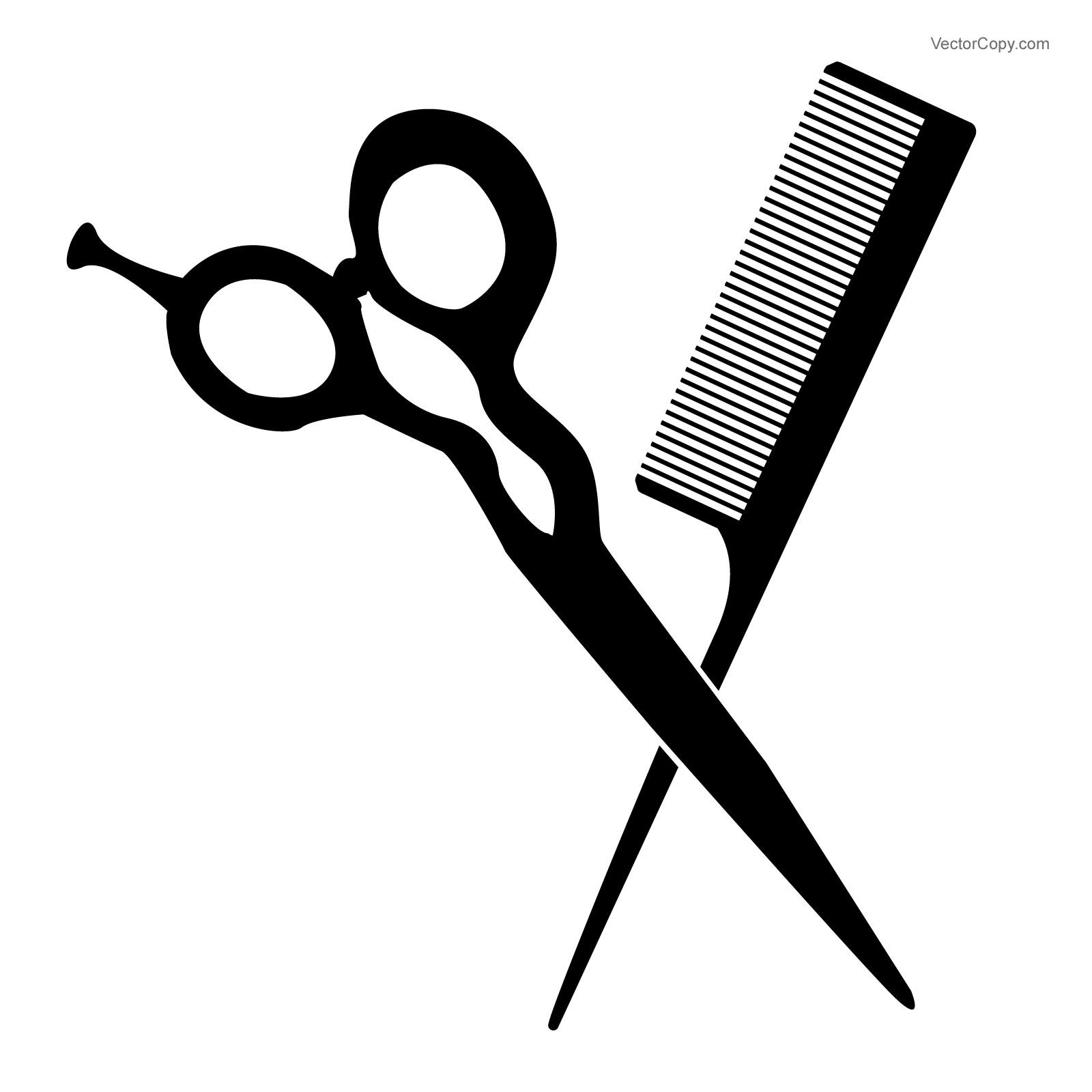 Scissors free scissor and comb clip art 2.