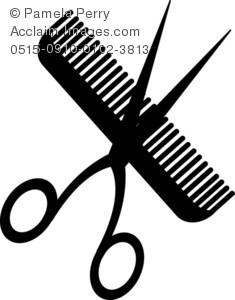 Scissors and comb clipart 2 » Clipart Portal.