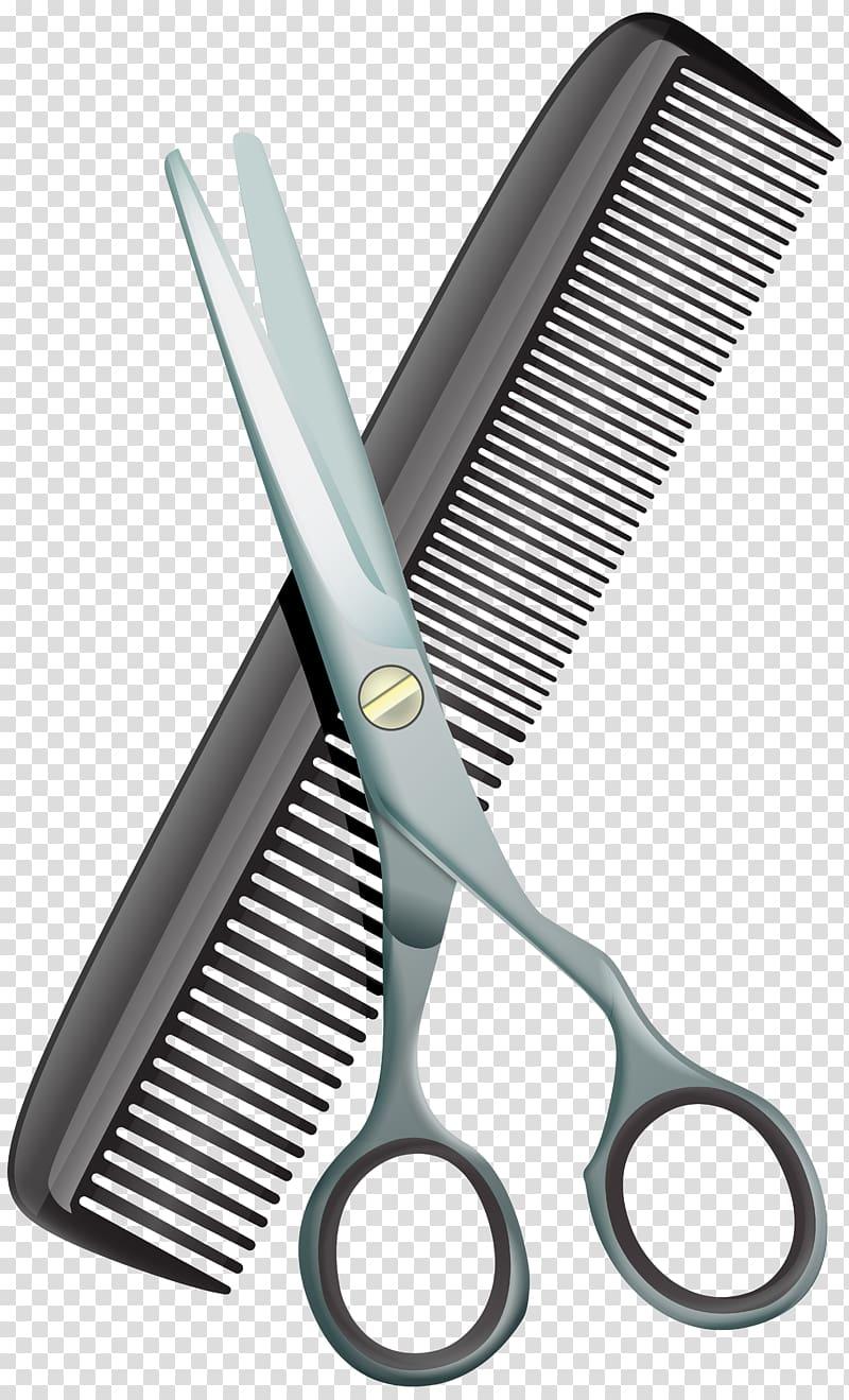 Scissors and comb illustration, Comb Scissors Hair.