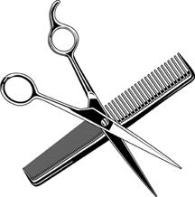 Scissors And Comb Tattoo.