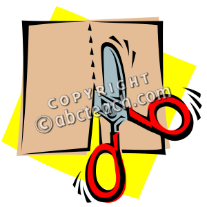 Clip Art: Scissors: Cutting.