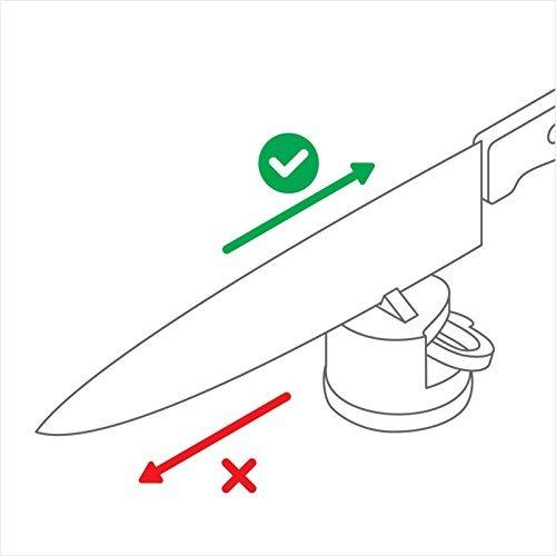 Kitchen Knife Sharpener Scissors Grinder Secure Suction Chef Pad.