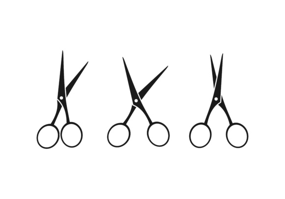 Scissors, cut logo.