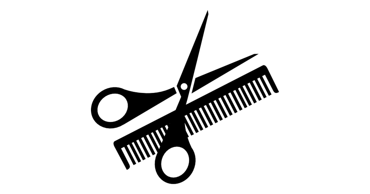 Scissor and comb.