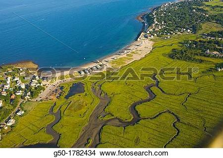 Stock Photo of Aerial View of Scituate, Massachusetts g50.