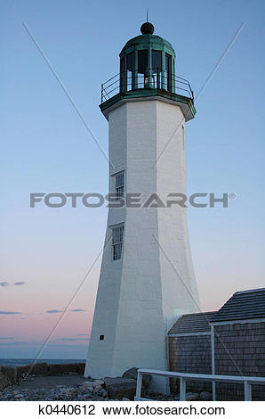Stock Photo of Scituate Light k0440612.