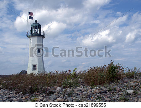 Stock Images of Scituate Harbor Light, Scituate MA.