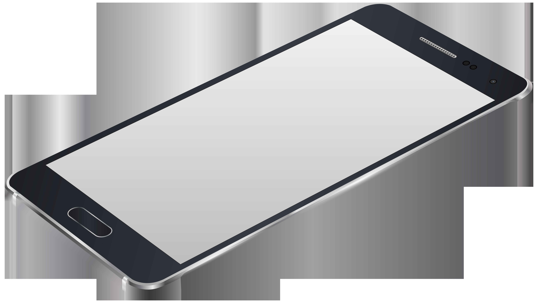 Grey Smartphone PNG Clip Art Image.