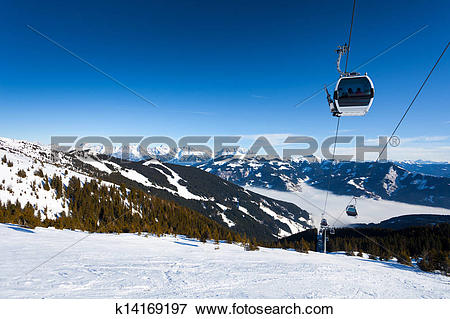 Picture of Cable car going to Schmitten k14169197.