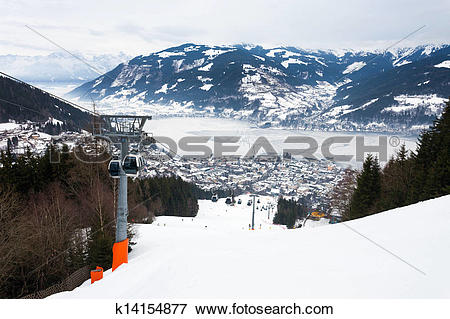 Picture of Cable car going to Schmitten k14154877.