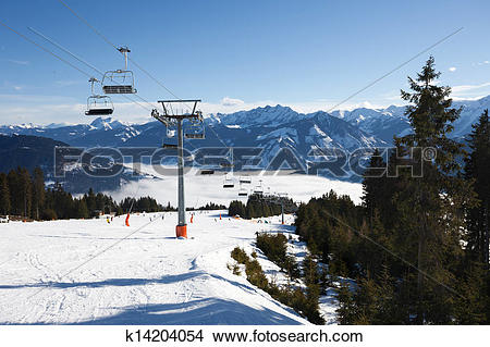Stock Photo of Cable car going to Schmitten k14204054.