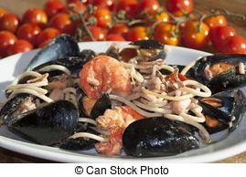 Stock Images of Spaghetti allo scoglio.