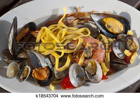 Stock Photo of linguine allo scoglio k18543704.