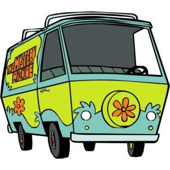 free vector Scooby Doo Van cartoon character.
