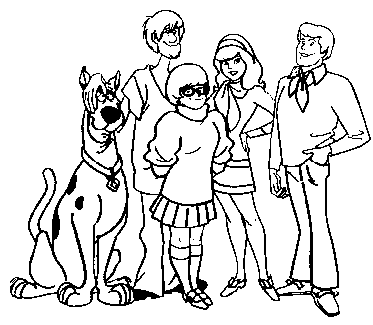 Free Scooby Doo Outline, Download Free Clip Art, Free Clip.