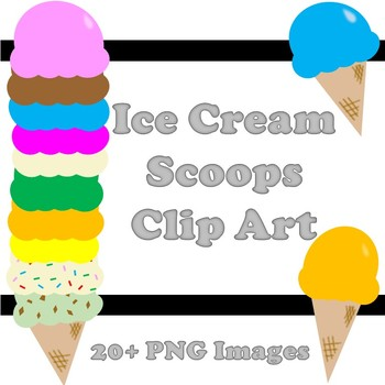 Ice Cream Scoops Clip Art.