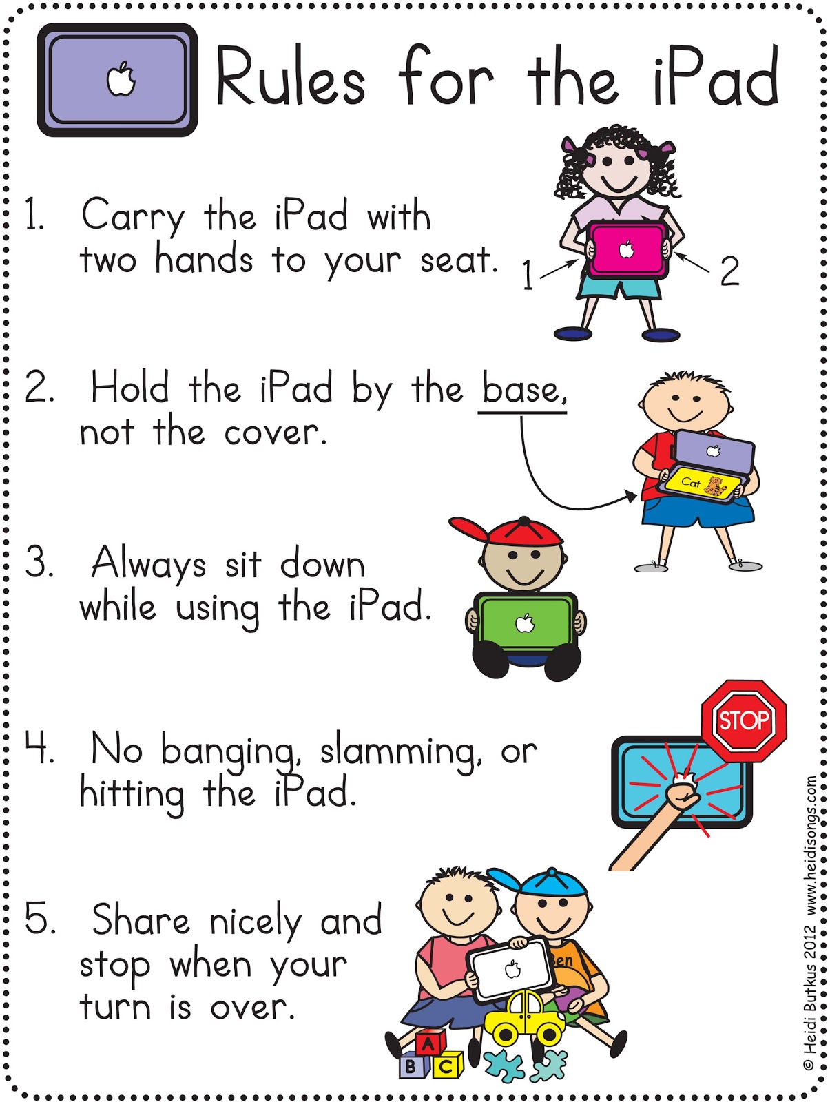 Playground rules clipart.