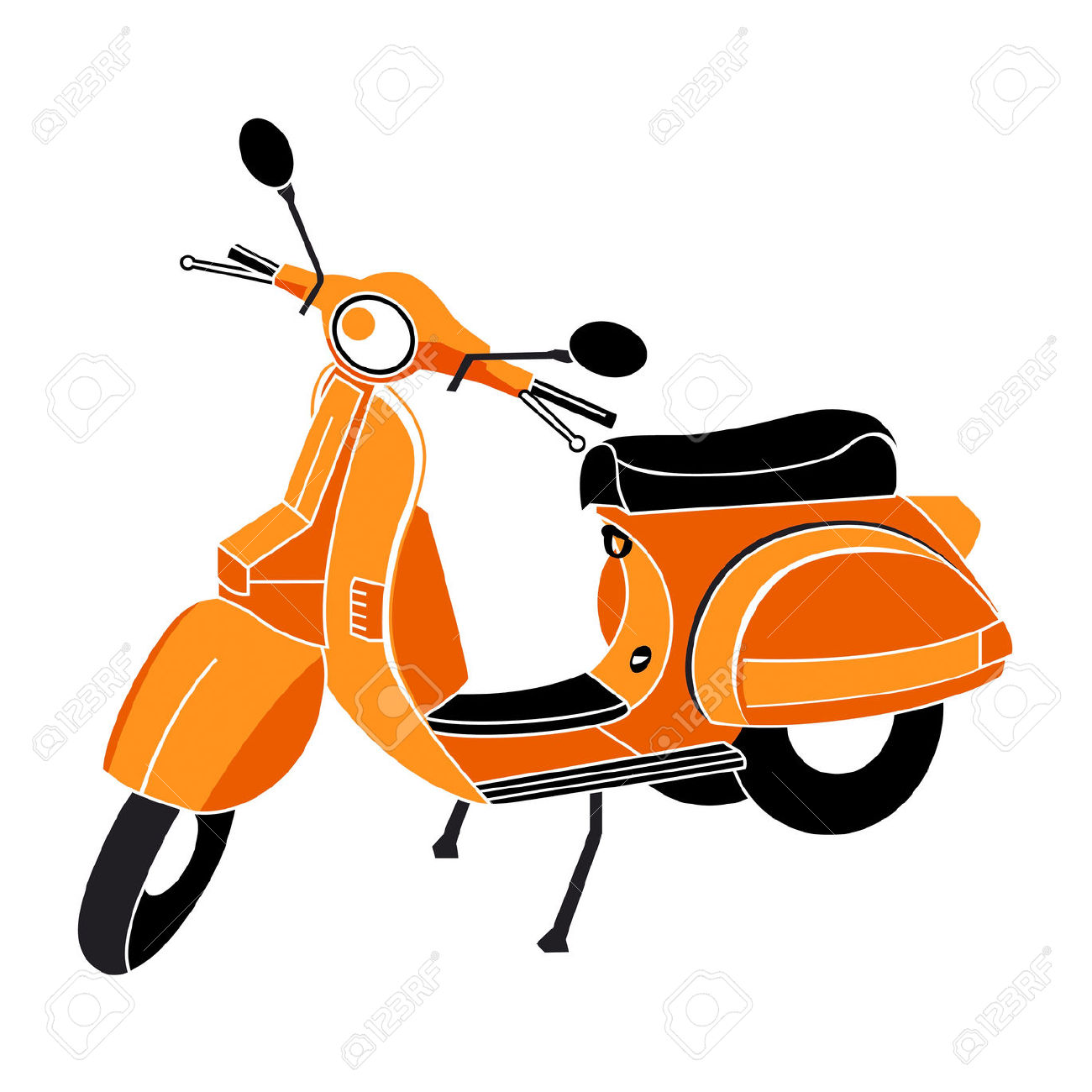 Mod scooter clipart.